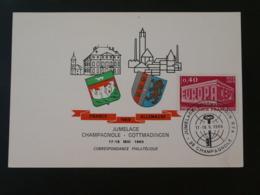 Carte Commemorative Card Jumelage Champagnole Gottmadingen 39 Jura Europa 1969 - Europa-CEPT