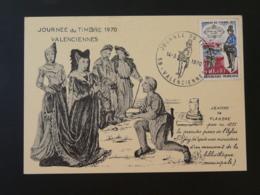 Carte Locale Jeanne De Flandre Medieval Journée Du Timbre Valenciennes 59 Nord 1970 - Journée Du Timbre
