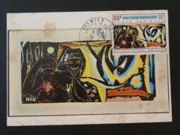 Carte Maximum Card Peinture Painting Jean Guillois Artistes En Polynésie 1970 - Cartes-maximum