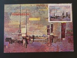 Carte Maximum Card Peinture Painting Frank Fay Artistes En Polynésie 1970 - Cartes-maximum