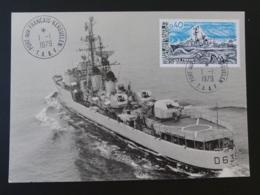 Carte Maximum Card Bateau Warship Escorteur Forbin TAAF 1979 - Bateaux