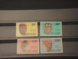 SURINAME - 1987 MASCHERE 4  VALORI - NUOVI(++) - Suriname