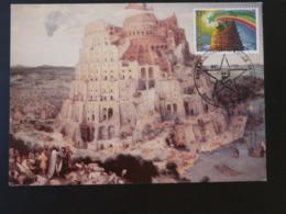 Carte Maximum Card Tour De Babel Congres Esperanto Antwerpen Belgique 1982 - Christianisme