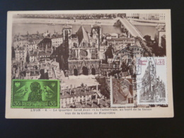 Carte Maximum Card Cathédrale St-Jean Lyon 1983 - Eglises Et Cathédrales