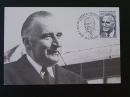 Carte Maximum Card Georges Pompidou St Flour 15 Cantal 1984 - Cartes-Maximum