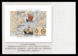 ICELAND 1992 America Fund/Fundur Ameríku: Postcard MINT/UNUSED - Entiers Postaux
