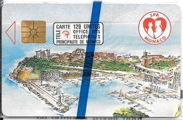 CARTE#PUBLIC-MONACO-120U-MF23-GEM A-04/92-SPA MONACO-N° SérieB230P0007-NSB-TBE - Monaco