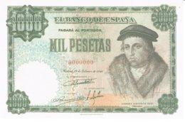 Billet Facsimil  1000 Pts 0000000 - [ 3] 1936-1975: Franco