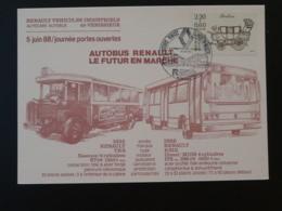 Carte Commemorative Card Camion Truck Bus Renault Venissieux 69 Rhone 1988 - Busses