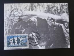 Carte Maximum Card Normandie Niemen WW2 Base Aérienne A. Littolff Contrexeville 88 Vosges 1988 - Aviones
