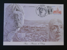 Carte Maximum Card Abbaye De Cluny Signée Albuisson 71 Saone Et Loire 1990 - Maximum Cards