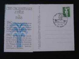 Carte Commemorative Card Maréchal De Castellane 150 Ans Amélie Les Bains 66 Pyrénées Orientales 1990 - Thermalisme