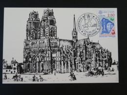 Carte Commemorative Card Cathedrale D'Orléans Europa Phila 1991 Loiret - Eglises Et Cathédrales