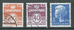 Danemark YT N°746/748 Lignes Ondulées - Reine Margrethe II Oblitéré ° - Denmark