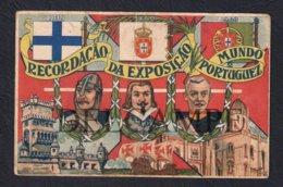 POSTCARD PORTUGAL LISBOA RECORDAÇÃO DA EXPOSIÇÃO DO MUNDO PORTUGUÊS - 1940 (POSTAL USADO E COM VINCOS) - Lisboa