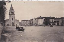 Cpsm PF: Thurins  (69) La Place Et L'église..voiture.Simca Décapotable    Ed Cellard Bron  N° 47507      Carte   Rare - Altri Comuni