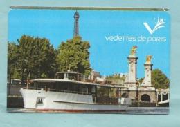 Ticket D'entrée - Bateau Les Vedettes De Paris Tour Eiffel Pont Alexandre III - Croisière Découverte - Tickets D'entrée