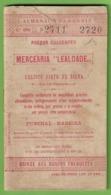 "Funchal - Almanaque Para 1915 - Mercearia ""Lealdade"" - Madeira - Portugal"