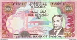 "SAMOA 100 TĀLĀ ND (1990) P-30a UNC ""LEGAL TENDER IN WESTERN SAMOA"" [WS106a] - Samoa"
