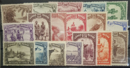 BELGIAN CONGO 1931/37 - MNH - Sc# 139-156 - Complete Set! - Belgian Congo