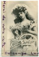 - Souvenir Charmante Femme - Pratiquement Neuve, Précurseur, Phototypie A. BERGERET, écrite, 1904, TBE, Scans.. - Bergeret