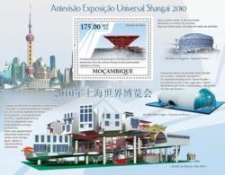 Mozambique, 2009. Universal Exhibition Shanghai 2010 (s\s+block) - 2010 – Shanghai (China)