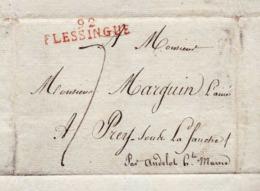 Lettre 1811 Avec Marque Postale 92 Flessingue Vlissingen Période Francaise Pour Marguin Prez Sous La Fauche 52 - Other