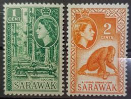 SARAWAK 1955 - MNH - Sc# 197, 198 - Sarawak (...-1963)