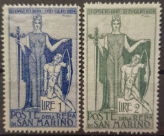 SAN MARINO 1924 - MNH - Sc# 87, 88 - Unused Stamps