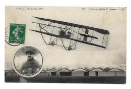 Aviation - Circuit De L'Est 1910 - Vallon Sur Biplan R. Sommer - Aviateurs