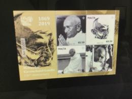 2019 Malta Birth Of Mohandas Karamchand Gandhi - 150th Anniversary Mint NH VF - Malta