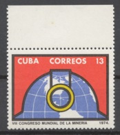 Cuba 1974 Mi# 2013** WORLD MINING CONFERENCE - Cuba