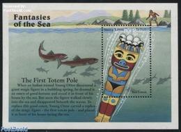 Sierra Leone 1996 Sea Totem S/s, (Mint NH), Art - Fairytales - Verhalen, Fabels En Legenden
