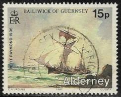 Alderney SG A33 1987 Shipwrecks 15p Good/fine Used [40/32773/25D] - Alderney