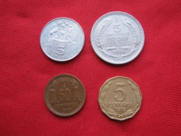 Chile Lot 04 Scarse Coins - Chile