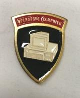 Distintivo Metallico Operatore Computer Specialità Esercito Italiano Spilla In Metallo Specialita' Rara Anni '80 - Altri