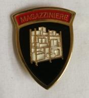 Distintivo Metallico Magazziniere Specialità Esercito Italiano Spilla In Metallo Specialita' Magazzinieri - Altri