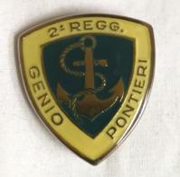 Distintivo Metallico 2° Reggimento Genio Pionieri Regg. Piacenza Esercito Italiano Spilla In Metallo Rara Militare - Altri