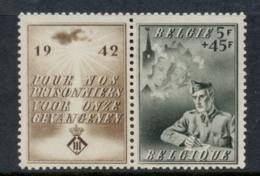 Belgium 1942 Welfare Prisoners Of War + Label MUH - Unclassified