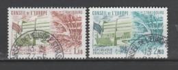 FRANCE / 1981 / Y&T N° SERVICE 66/67 : CONSEIL (Palais De L'Europe/Hémicycle 2/3 Valeurs) - Cachets Conseil De L'Europe - Service
