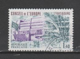 FRANCE / 1981 / Y&T N° SERVICE 65 : CONSEIL (Palais De L'Europe/Hémicycle 1F40) - Cachet Rond Pas Conseil De L'Europe - Service