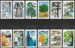 France 2018 - Mi 7088/99 - YT Ad 1605/16 ( Trees ) Complete Issu - Francia