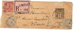 1917- Bande  E P 1 C Sage D'Imprimés RECC. étiquette Rose Avec Compl. à 12 Centimes - Postmark Collection (Covers)