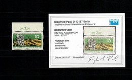 SBZ MiNr. 833 X, Postfrisch, **, Oberrand, BPP Befund - Zone Soviétique