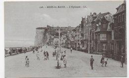 MERS LES BAINS - N° 126 - L' ESPLANADE AVEC PERSONNAGES - CPA NON VOYAGEE - Mers Les Bains