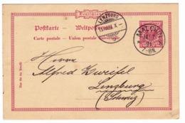 Postkarte 1891 Malchin Deutschland Lenzburg  Lenzbourg Suisse Schweiz Entier Postal - Briefe U. Dokumente