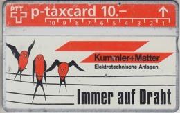SUISSE - PHONE CARD - TAXCARD-PRIVÉE ***  KUMMLER + *** - Schweiz