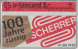 SUISSE - PHONE CARD - TAXCARD-PRIVÉE ***  SCHERRER *** - Schweiz