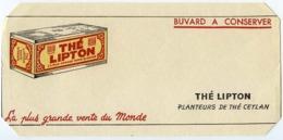 Buvard  19.7 X 9 Thé LIPTON - Kaffee & Tee