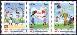 21.3.2017; Tag Des Kindes; 3-er Streifen, Gestempelt, Los 51653 - Libia